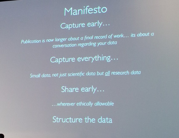 Manifesto for sharing data